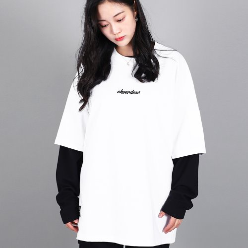 OVER-FIT LOGO POCKET-T WHITE