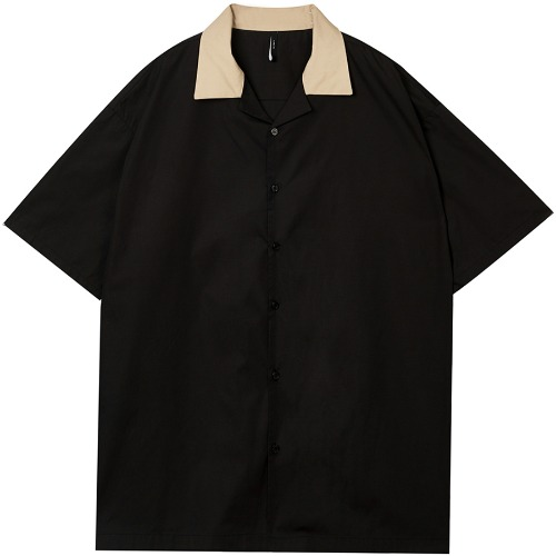 over open collar shirt (FU-124_BK&BG)