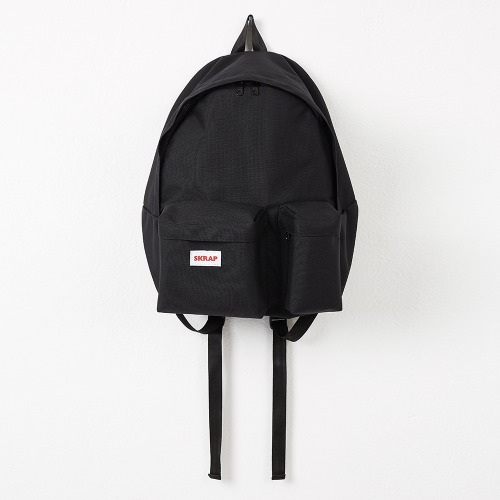 SAFE TWO POCKET BACKPACK BLACK