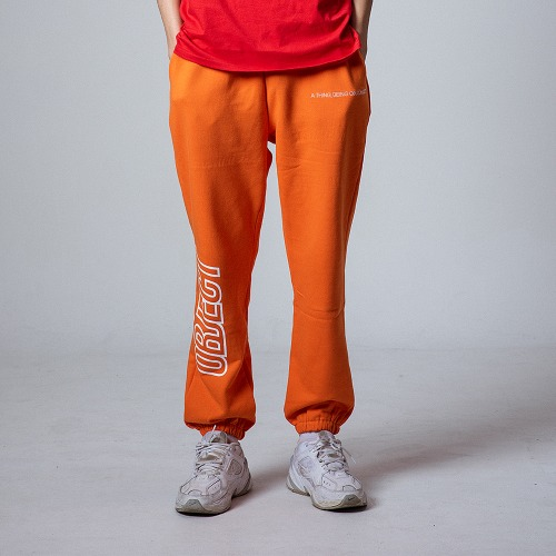 OBJECT LOGO SWEATPANTS (ORANGE)
