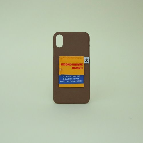 SUN CASE LABEL CHOCO BROWN