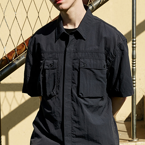 SOLID POCKET SHIRTS_BLACK
