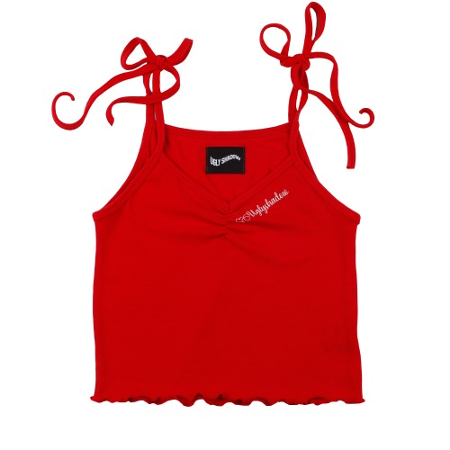 SHIRRING SLEEVELESS(RED)