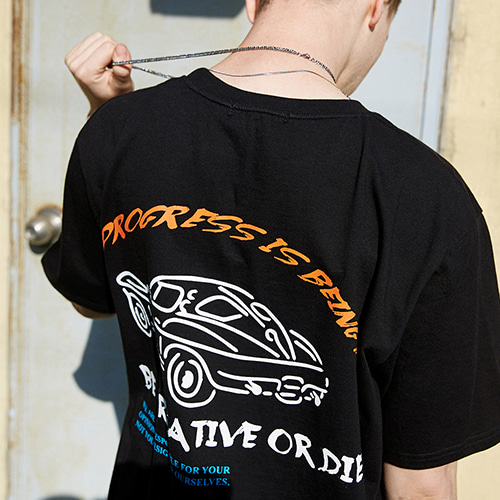 CAR SLOGAN T-SHIRTS_BLACK