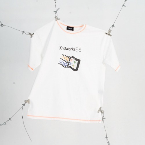 WINDOW LOGO T-SHIRTS - WHITE