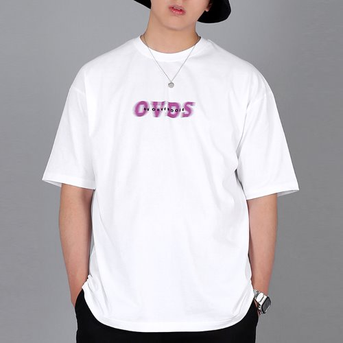 OVER-FIT SIGNATURE LOGO TEE WHITE