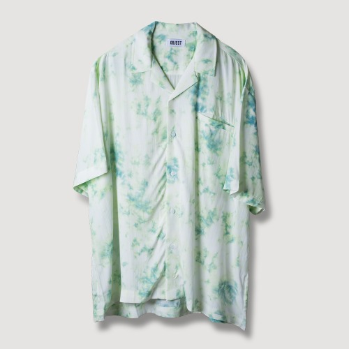 TIE DYE HAWAIIAN SHIRT (MINT)