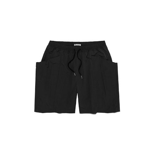 TWO POCKET SHORTS IS [BLACK]