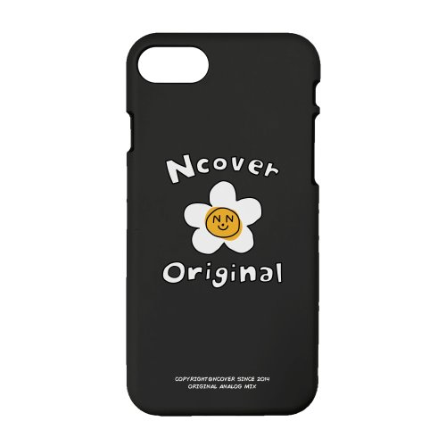 Flower graphic-black(color jelly case)