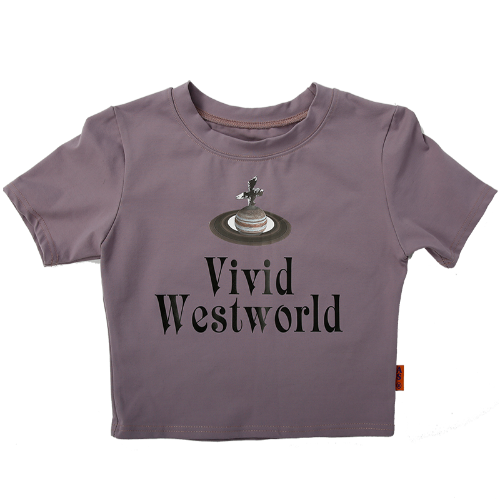 CROP TEE VIVID WESTWORLD - PURPLE