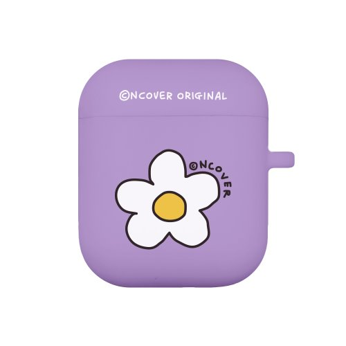 Flower point-purple(airpods jelly case)