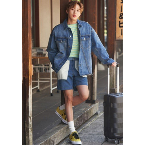 [하성운착용]Inside-out Denim Shorts (denim)