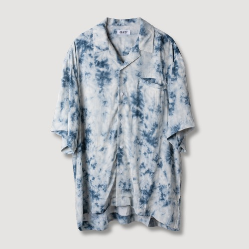 TIE DYE HAWAIIAN SHIRT (BLUE)