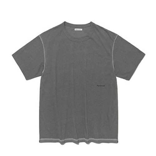 TURN OVER SHORT SLEEVE IS [GRAY]
