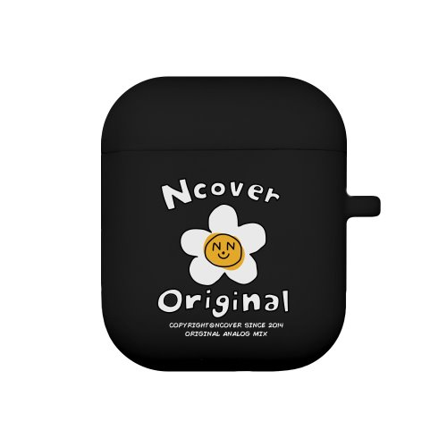 Flower graphic-black(airpods jelly case)
