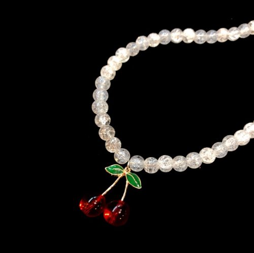 Cherry stone necklace