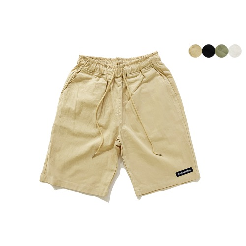 CREASE COTTON BANDING SHORTS(4color)(unisex) 크리스 코튼 밴딩 쇼츠