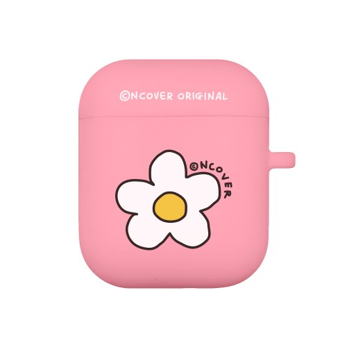 Flower point-pink(airpods jelly case)