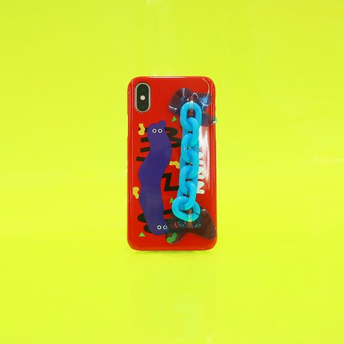 SUN CASE NEON CHAIN RED