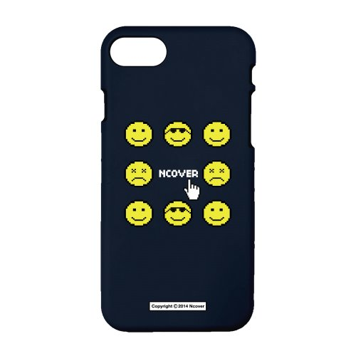 Smile face-navy(color jelly case)