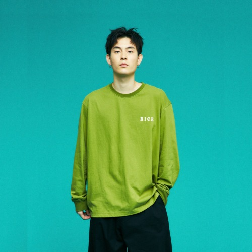 OVERSIZE MARKET GRAPHIC T SHIRTS (GREEN)