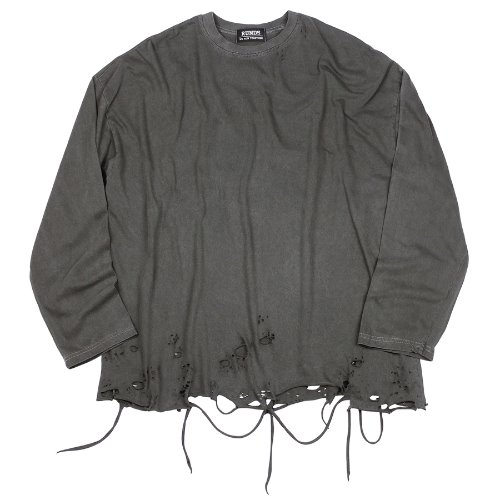PIGMENT GRUNGE LONG SLEEVE - CHARCOAL