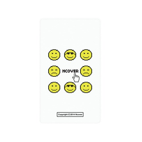 Smile face battery-white