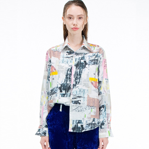 19FW02 COLLAGE SHIRTS WOMAN