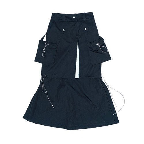 XND ARCHIVE SKIRT - BLACK