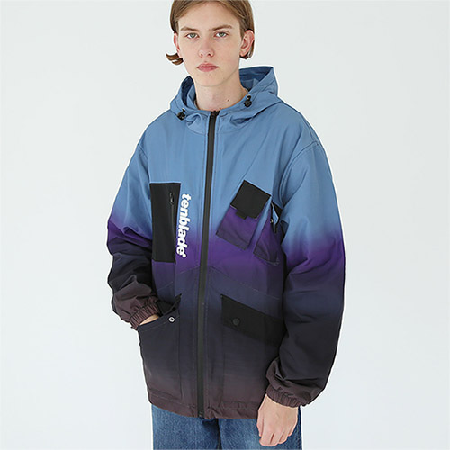 rainbow tech jacket purple