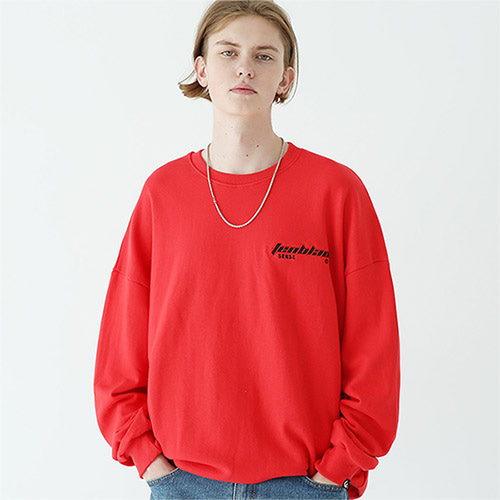edge laser sweat shirt red