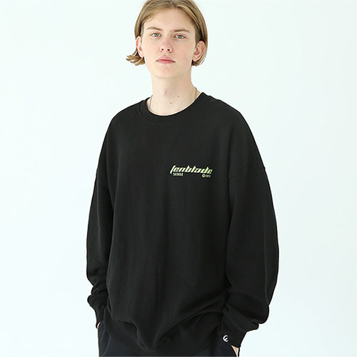 edge laser sweat shirt black