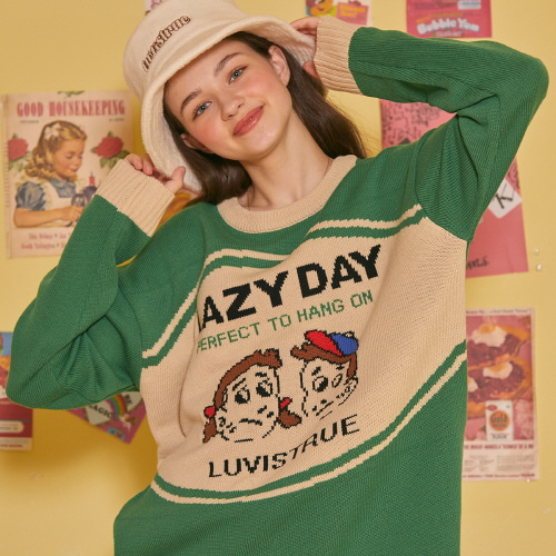 LZ LAZY KNIT (GREEN)
