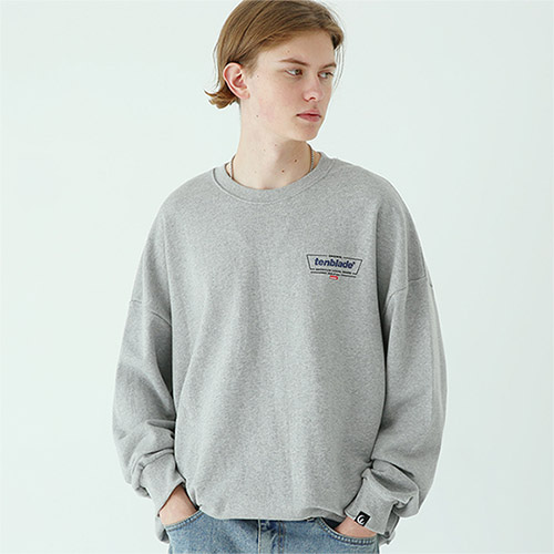 frame box sweat shirt gray
