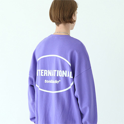 international sweat shirt purple