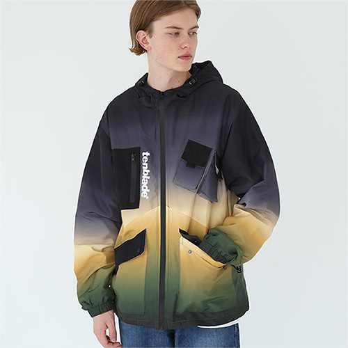 rainbow tech jacket yellow