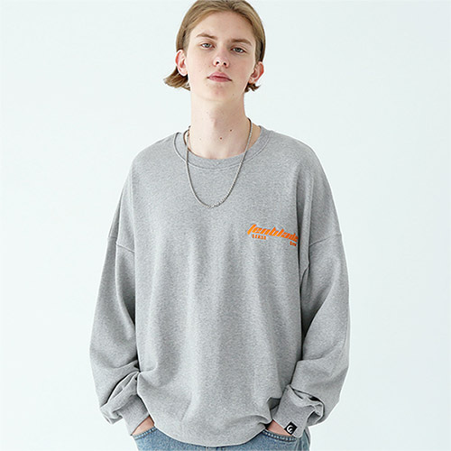 edge laser sweat shirt gray