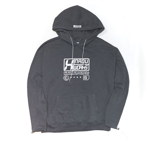 PIGMENT WASHED HOODIE - GREY