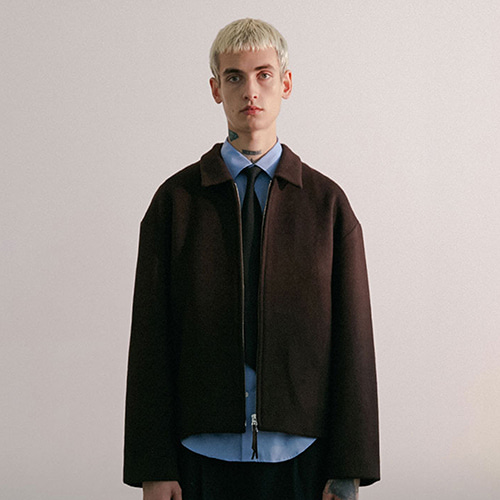 WOOL BLOUSON IA [BROWN]