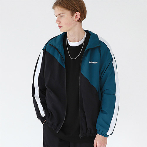 diagonal track jacket green