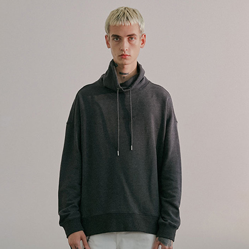 MOCKNECK SWEAT IA [CHARCOAL GREY]