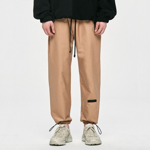 Cotton Track Pants - Beige