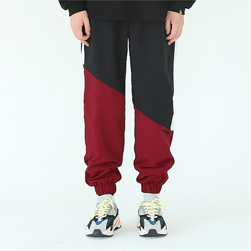 diagonal track pants wine