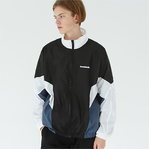 reflective retro track jacket white