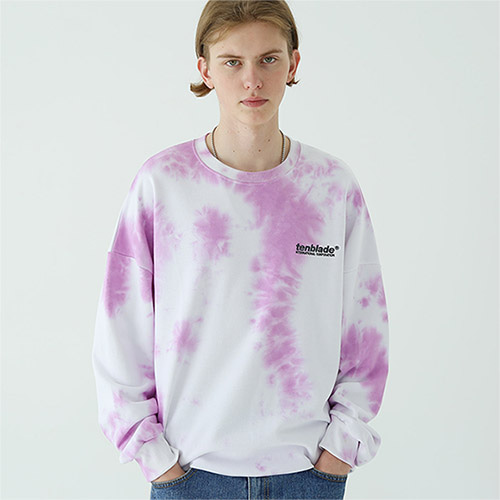 tie dye logo sweat shirt purple