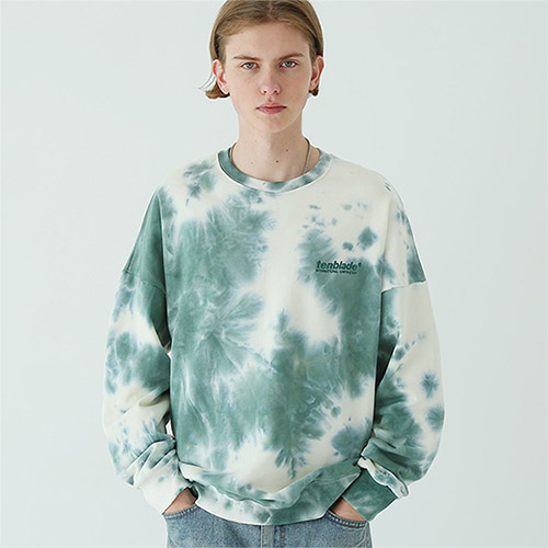 tie dye logo sweat shirt green