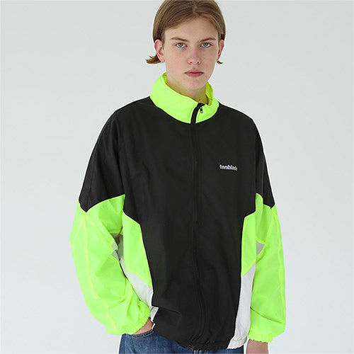 reflective retro track jacket neon