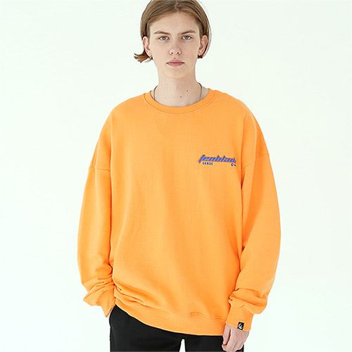 edge laser sweat shirt orange