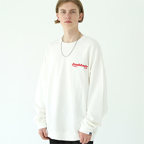 edge laser sweat shirt white