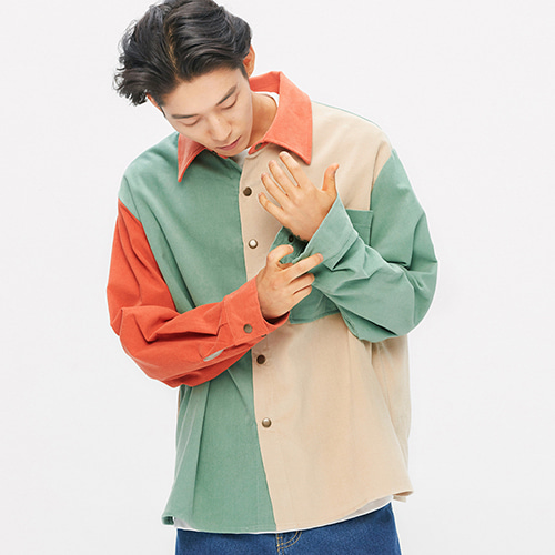 16's Corduroy Pastel Shirts-Jacket (mix)